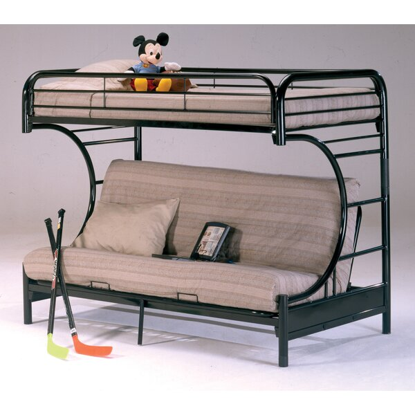 Dawnview Twin Over Twin Futon Bunk Bed by Harriet Bee