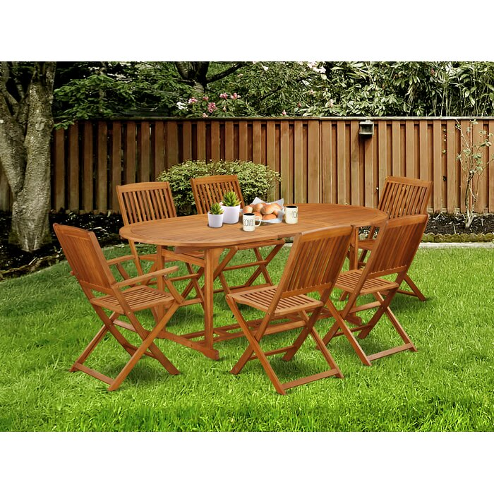 Astonishing Semaj 7 Piece Patio Dining Set Machost Co Dining Chair Design Ideas Machostcouk