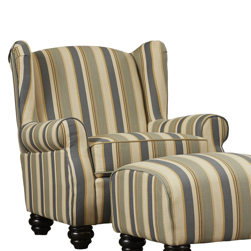 Great Brougham Wingback Chair And Ottoman