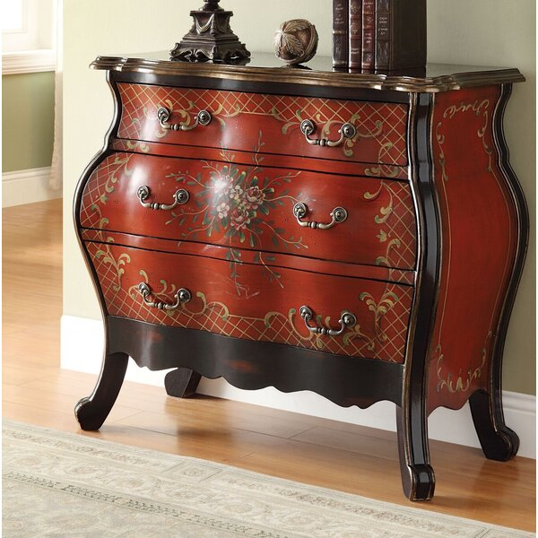 Vaillancourt Vintage Traditional Storage 3 Drawers Accent Chest