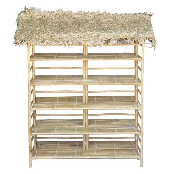 Maloney Bamboo Thatch Etagere Bookcase by Bayou Breeze