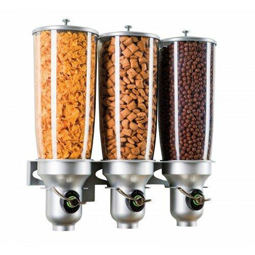 507.21 Oz. Triple Cylinder Cereal Dispenser by Cal-Mil