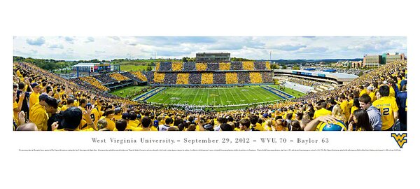 NCAA West Virginia University - by Christopher Gjevre Stripe Photographic Print by Blakeway Worldwide Panoramas, Inc