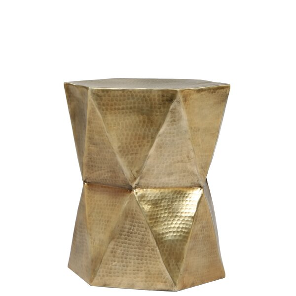 Baumgardner Geometric End Table by Bloomsbury Market