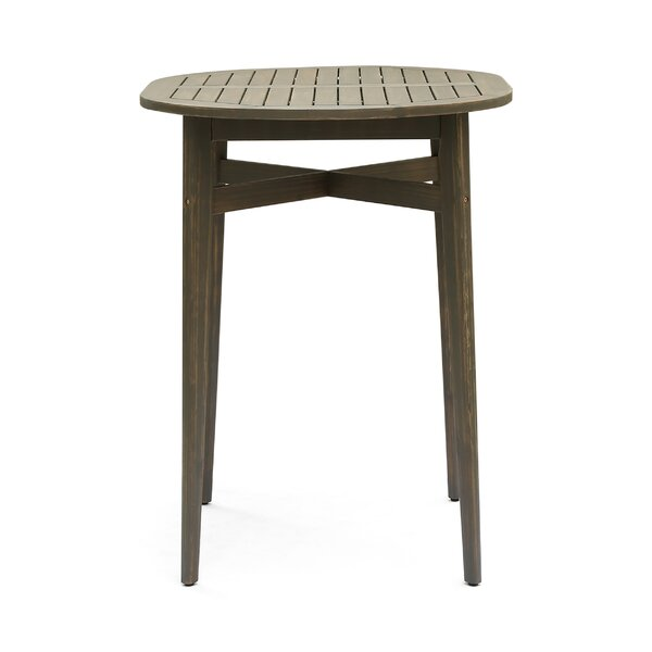 Odessa Outdoor Rustic Solid Wood Bar Table by Union Rustic