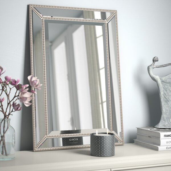 Beveled Beaded Accent Wall Mirror by Rosdorf Park