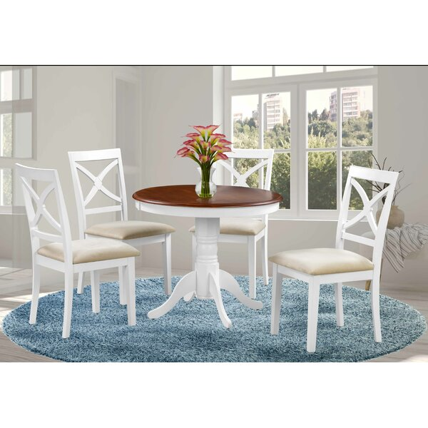 Milagros 5 Piece Solid Wood Dining Set by August Grove August Grove