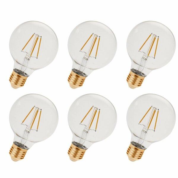 3.5W E26/Medium LED Vintage Filament Light Bulb (Set of 6) by Elegant Lighting