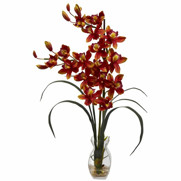 Cymbidium Orchid with Vase by World Menagerie