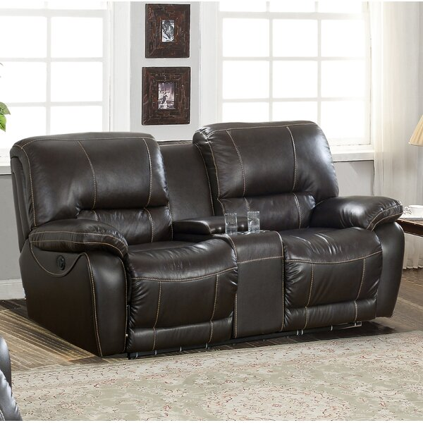 Womble Leather Reclining Loveseat by Latitude Run