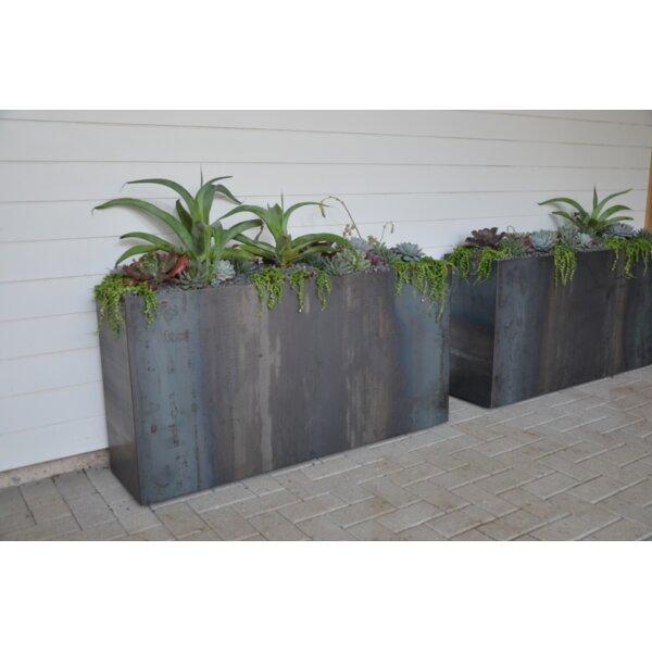 Tatami Modern Metal Planter Box by Sarabi Studio