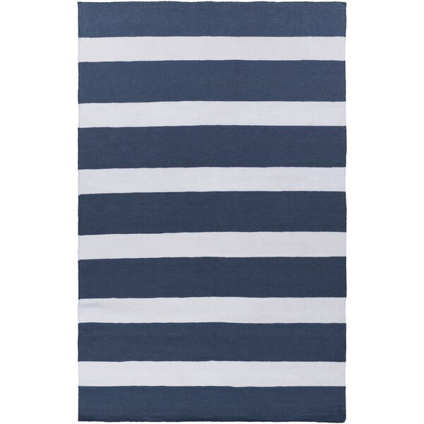 Peugeot Hand Woven Navy/Ivory Indoor/Outdoor Area Rug by Beachcrest Home