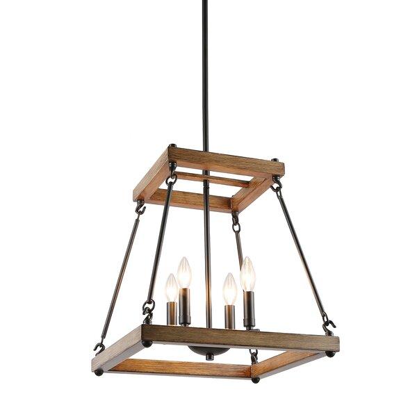 Mouton 4 - Light Lantern Geometric Chandelier By Gracie Oaks