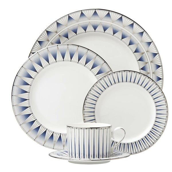 Geodesia Bone China 5 Piece Place Setting, Service for 1 by Lenox