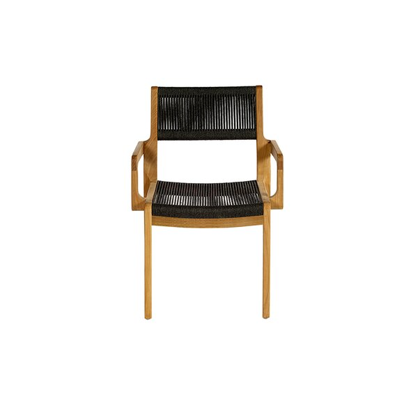 Skagen Stacking Teak Patio Dining Arm Chair by OASIQ