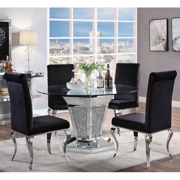 Georgianna Upholstered 5 Piece Dining Set By Everly Quinn