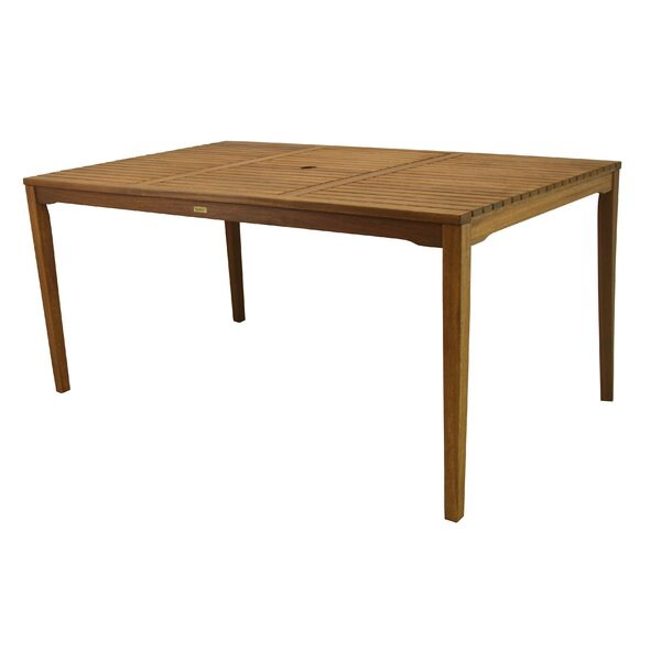 Tovar Wooden Dining Table by Beachcrest Home