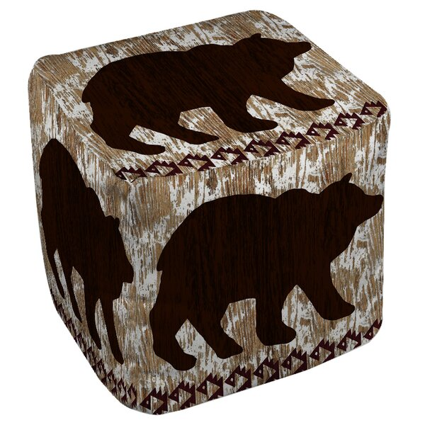 Wilderness Bear Pouf by Manual Woodworkers & Weavers