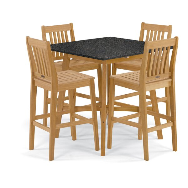 Delvalle 5 Piece Dining Set by Breakwater Bay
