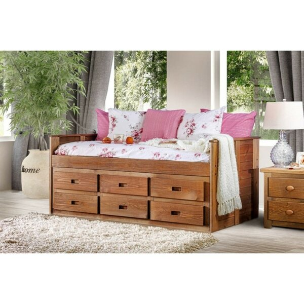 Boring Twin Bed with Drawers by Harriet Bee