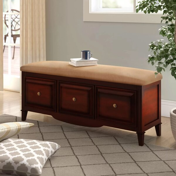 Holden Wood Storage Bench by Alcott Hill