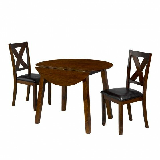 Flood 3 Piece Drop Leaf Breakfast Nook Dining Set by Winston Porter