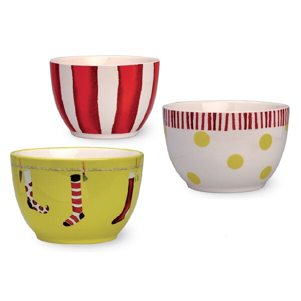 3 Piece Crazy Stocking Prep Bowl Set by Boston Int