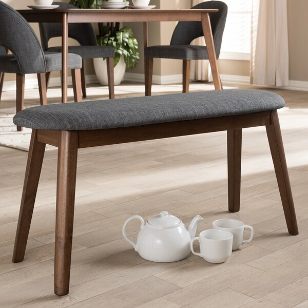 Cronin Mid-Century Upholstered Bench by George Oliver