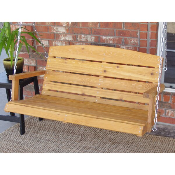 Frary Lodge Style Porch Swing by Millwood Pines Millwood Pines