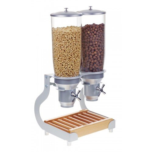 338 Oz. Double Canister Cereal Dispenser by Cal-Mil