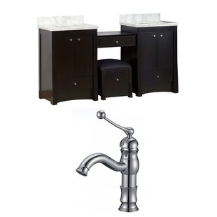 Kimbrell Transitional Floor Mount 69 Double Bathroom Vanity Set