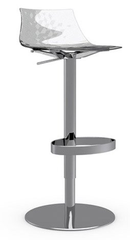 Ice Adjustable Height Swivel Bar Stool by Calligaris