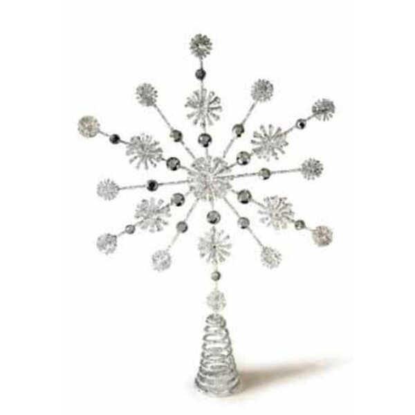 Glittered and Jeweled Snowflake Christmas Tree Topper by The Holiday Aisle