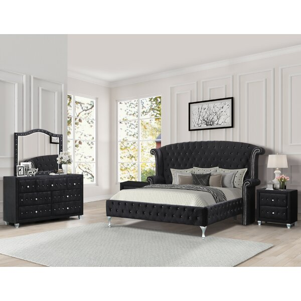 Hostetler Standard 5 Piece Bedroom Set by House of Hampton