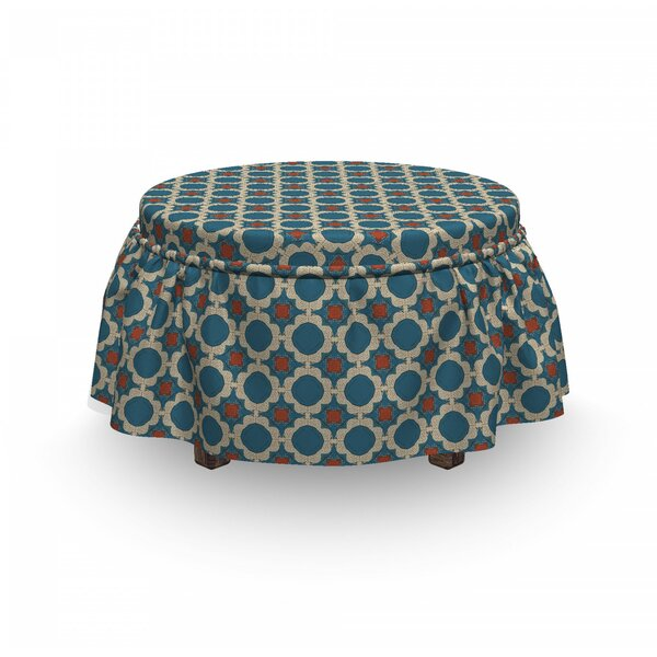 Round Shapes Squares Ottoman Slipcover (Set Of 2) By East Urban Home