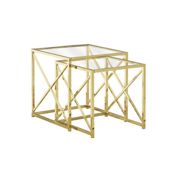 Dyar Sled 2 Piece Nesting Tables By Everly Quinn
