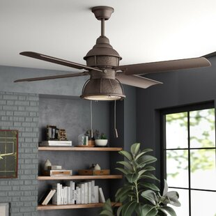 Industrial style ceiling fans youll love wayfair 52 martika 4 blade led ceiling fan aloadofball Image collections
