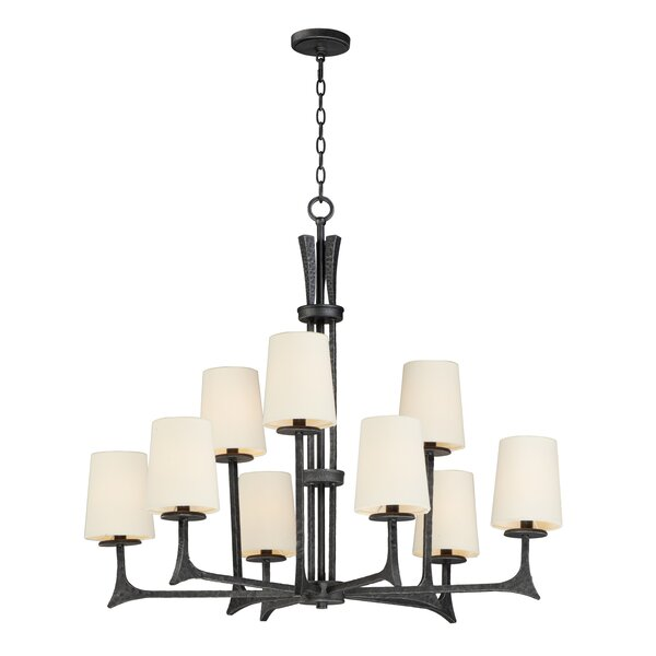 Moran 9 - Light Shaded Tiered Chandelier by Williston Forge Williston Forge