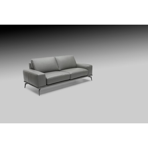Review Micky Leather Loveseat