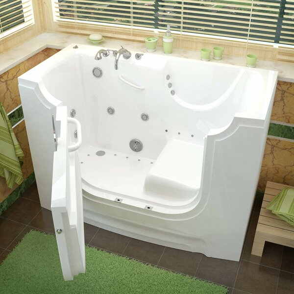 HandiTub 60 x 30 Walk-In Air and Whirlpool Jetted Bathtub by Therapeutic Tubs