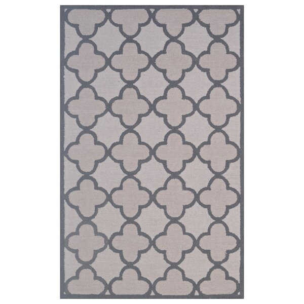 Wool Hand-Tufted Ivory/Gray Area Rug by Eastern Weavers