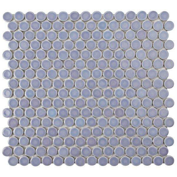 Penny 0.8 x 0.8 Porcelain Mosaic Tile in Purple/Blue by EliteTile