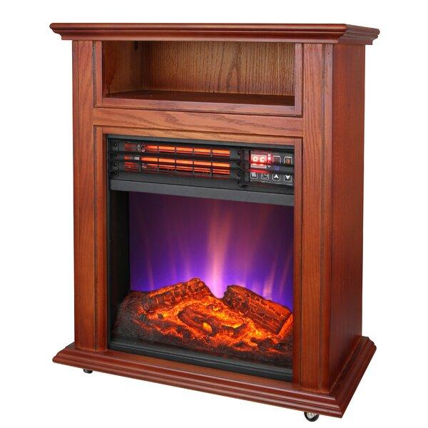 Pelfrey Mobile Quartz Electric Fireplace by Red Barrel Studio Red Barrel Studio