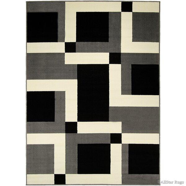 Gray/Black Area Rug by AllStar Rugs