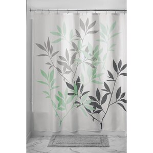 black white grey shower curtain. Leaves Shower Curtain Gray  Silver Curtains You ll Love Wayfair