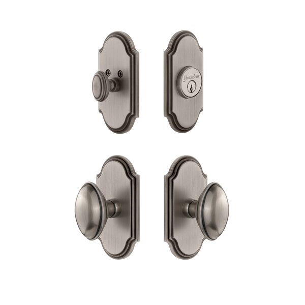 Arc Single Cylinder Knob Combo Pack Eden Prairie Knob by Grandeur