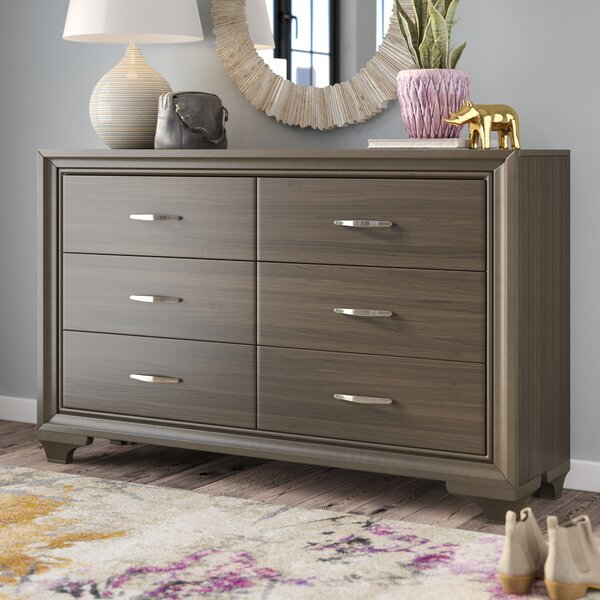 Latitude Run Hurst 6 Drawer Double Dresser & Reviews by Latitude Run