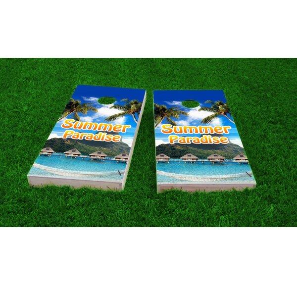 Tropical Paradise Cornhole Game (Set of 2) by Custom Cornhole Boards