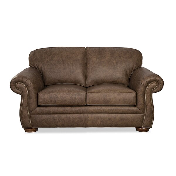 Acapulco Genuine Leather 69 Rolled Arm Loveseat