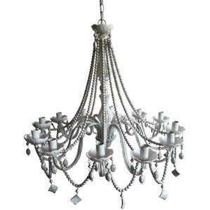 regina beaded 6light crystal chandelier
